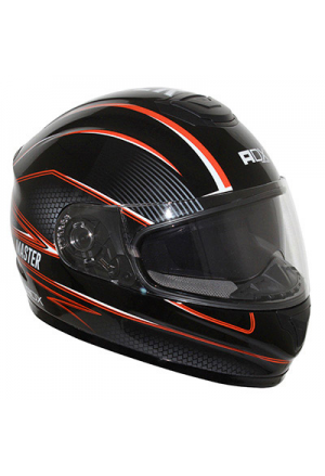 CASQUE INTEGRAL ADX XR2 MASTER DOUBLE ECRANS NOIR/ORANGE L
