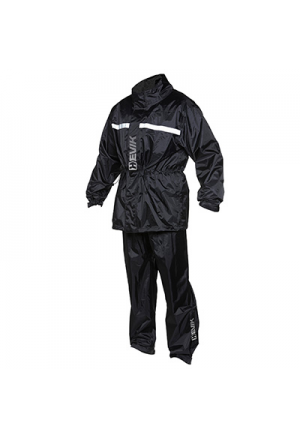 RAIN GARMENTS HEVIK DRY LIGHT BLACK XL (JACKET + TROUSER PACK)