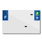 BAND PLATE MOTO 210x130 FOR VIRGIN PVC DEP. 19/EURO (SOLD BY UNIT)