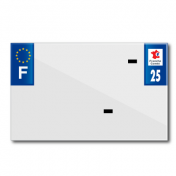 BAND PLATE MOTO 210x130 FOR VIRGIN PVC DEP. 25/EURO (SOLD BY UNIT)