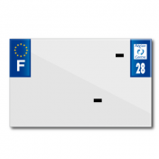 BAND PLATE MOTO 210x130 FOR VIRGIN PVC DEP. 28/EURO (SOLD BY UNIT)