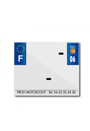 BAND PLATE MOTO 170x145 FOR PVC WITH COMPANY NAME DEP. 06/EURO (SOLD BY UNIT)