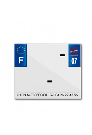 BAND PLATE MOTO 170x145 FOR PVC WITH COMPANY NAME DEP. 07/EURO (SOLD BY UNIT)