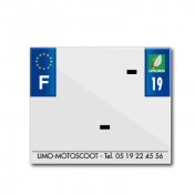 BAND PLATE MOTO 170x145 FOR PVC WITH COMPANY NAME DEP. 19/EURO (SOLD BY UNIT)
