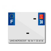 BAND PLATE MOTO 170x145 FOR PVC WITH COMPANY NAME DEP. 30/EURO (SOLD BY UNIT)