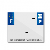 BAND PLATE MOTO 170x145 FOR PVC WITH COMPANY NAME DEP. 49/EURO (SOLD BY UNIT)