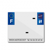 BAND PLATE MOTO 170x145 FOR PVC WITH COMPANY NAME DEP. 69/EURO (SOLD BY UNIT)