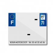 BAND PLATE MOTO 170x145 FOR PVC WITH COMPANY NAME DEP. 71/EURO (SOLD BY UNIT)