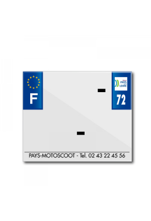 BAND PLATE MOTO 170x145 FOR PVC WITH COMPANY NAME DEP. 72/EURO (SOLD BY UNIT)