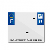 BAND PLATE MOTO 170x145 FOR PVC WITH COMPANY NAME DEP. 89/EURO (SOLD BY UNIT)
