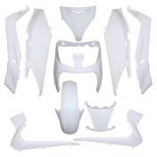 FAIRINGS/BODY PARTS FOR MAXISCOOTER YAMAHA 125 XMAX 20062009/MBK 125 SKYCRUISER 20062007 WHITE GLOSS (10 PARTS KIT)