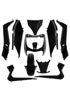 FAIRING KIT MAXISCOOTER FOR YAMAHA 125 X-MAX 20062009/MBK 125 SKYCRUISER 20062009 SHINY BLACK (KIT 10 PARTS)