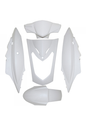 FAIRING KIT SCOOT REPLAY FOR KYMCO 50-125 AGILITY DOUBLE-SEAT WHITE (KIT 5 PARTS)