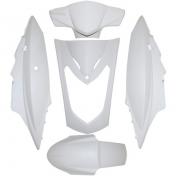 FAIRING KIT SCOOT REPLAY FOR KYMCO 50-125 AGILITY DOUBLE-SEAT WHITE (KIT 5 PARTS)
