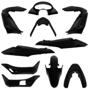 FAIRING KIT MAXISCOOTER FOR HONDA 125 PCX BLACK (KIT 11 PARTS)