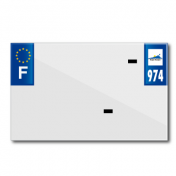 BAND PLATE MOTO 210x130 FOR VIRGIN PVC DEP.974/EURO (SOLD BY UNIT)