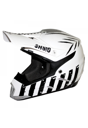 CASQUE CROSS SHIRO MX-305 SCORPION BLANC XL