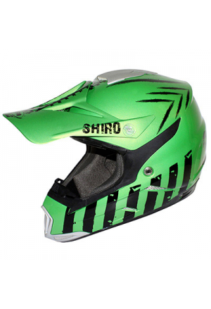 CASQUE CROSS SHIRO MX-305 SCORPION VERT METAL M