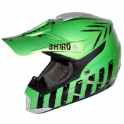 CASQUE CROSS SHIRO MX-305 SCORPION VERT METAL L