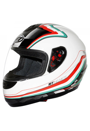 CASQUE INTEGRAL MT THUNDER NEW ITALY VERT/BLANC/ROUGE L