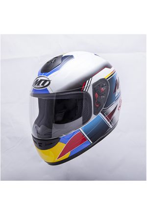 CASQUE INTEGRAL ENFANT MT THUNDER RACE & WIN BLANC/BLEU YM (51 à 52cm)