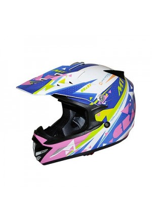 CASQUE CROSS ENFANT MT MX2 CRAZY MULTICOLOR YM (51 à 52cm)