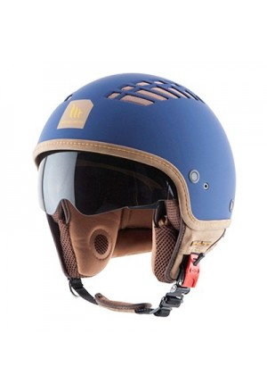 CASQUE JET MT COSMO SOLID RUBBER BLEU MAT XL