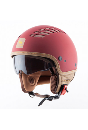 CASQUE JET MT COSMO SOLID RUBBER ROUGE MAT L