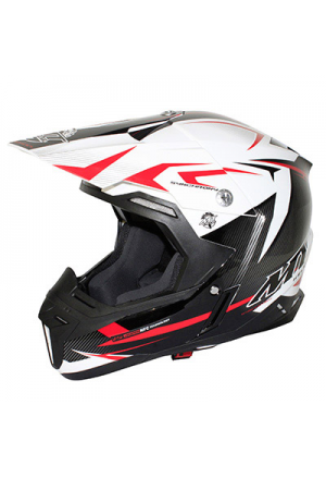 CASQUE CROSS MT SYNCHRONY STEEL NOIR/BLANC/ROUGE XS