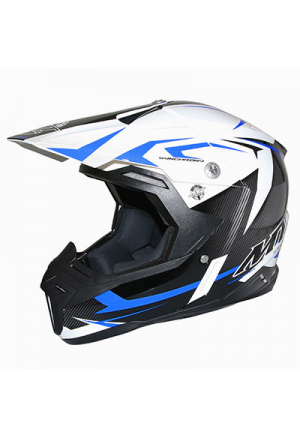 CASQUE CROSS MT SYNCHRONY STEEL NOIR/BLANC/BLEU L