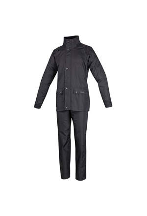 RAIN GARMENTS TUCANO SET DILUVIO PLUS BLACK XXXXL (4XL) (JACKET + TROUSER PACK)
