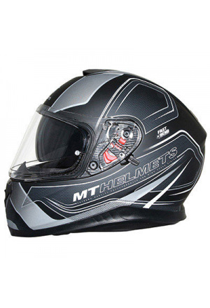 HELMET FULL-FACE MT THUNDER 3 SV TRACE BLACK MAT/SILVER S (DOUBLE SCREENS PINLOCK READY)