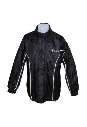 RAIN JACKET ADX LUXE BLACK S (PVC + POLYESTER, DOUBLEE)