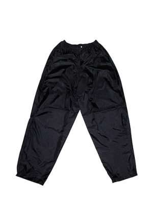 RAIN TROUSER/PANT ADX ECO BLACK L (PRESSIONS ET ELASTIQUE D'AJUSTEMENT + TRANSPORT BAG)