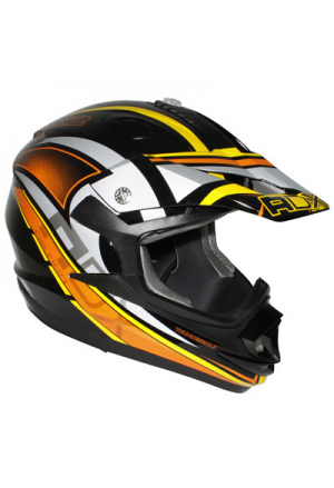 CASQUE CROSS ADX MX2 THUNDERBOLT NOIR/ORANGE S