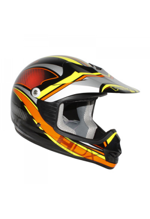CASQUE CROSS ENFANT ADX MX2 TUNDERBOLT NOIR/ORANGE YM (XS) (51 à 52cm)