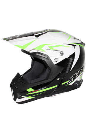 CASQUE CROSS MT SYNCHRONY STEEL NOIR/BLANC/VERT XL