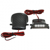 DECORATIVE LIGHTNING REPLAY (UNDER FLOOR BOARD) CARBON WITH CLEAR LEDS ( PAIR) **