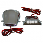 DECORATIVE LIGHTNING REPLAY (UNDER FLOOR BOARD) CHROME WITH CLEAR LEDS (PAIR) **