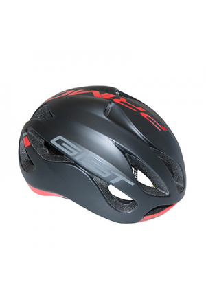 CASQUE VELO ADULTE GIST ROUTE PRIMO NOIR MAT/ROUGE FULL IN-MOLD TAILLE 56-62 REGLAGE MOLETTE 250GRS