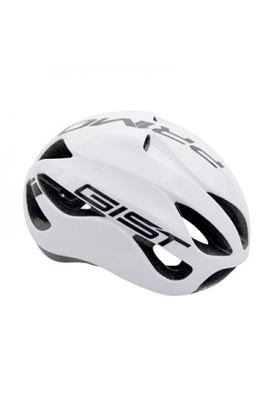 CASQUE VELO ADULTE GIST ROUTE PRIMO BLANC/NOIR FULL IN-MOLD TAILLE 56-62 REGLAGE MOLETTE 250GRS