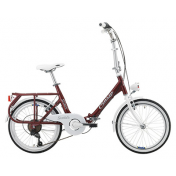 "FOLDING BIKE 20"" CINZIA SIXTIES ALUMINIUM 6 SPEED - AMARANTH RED - SIZE 40 (SHIMANO RS-35+TY-21)"