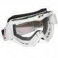 MOTOCROSS GOGGLES PROGRIP 3201 WHITE CLEAR VISOR ANTI-SCRATCH/U.V. PROTECTIVE - FOR GLASSES WEARERS -APPROVED AC-10170