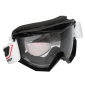 MOTOCROSS GOGGLES PROGRIP 3201 BLACK CLEAR VISOR ANTI-SCRATCH/U.V. PROTECTIVE - FOR GLASSES WEARERS -APPROVED AC-10170