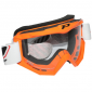 MOTOCROSS GOGGLES PROGRIP 3201 ORANGE CLEAR VISOR ANTI-SCRATCH/U.V. PROTECTIVE - FOR GLASSES WEARERS -APPROVED AC-10170