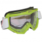 MOTOCROSS GOGGLES PROGRIP 3201 GREEN CLEAR VISOR ANTI-SCRATCH/U.V. PROTECTIVE - FOR GLASSES WEARERS -APPROVED AC-10170