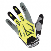 GANTS VELO ADULTE LONG GIST SHIELD VTT JAUNE FLUO/GRIS/NOIR S (PAIRE)