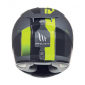 HELMET-FULL FACE MT RAPIDE OVERTAKE GREY/YELLOW FLUO MATT S (SINGLE VISOR- PINLOCK READY)