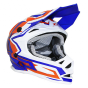 CASQUE CROSS ENFANT PROGRIP 3009 BLEU ORANGE YS