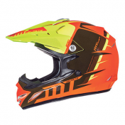 CASQUE CROSS ENFANT MT MX2 SPEC ORANGE JAUNE FLUO YM 51 à 52cm